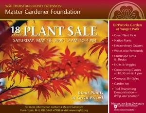 Plant Sale Poster 2009