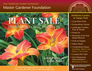 Plant Sale Poster 2010