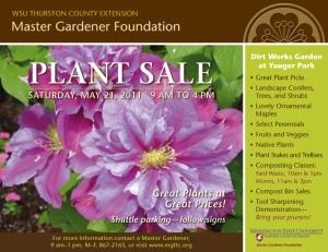 Plant Sale Poster 2011